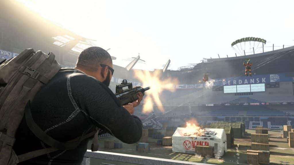 fighting in stadium in warzone cod