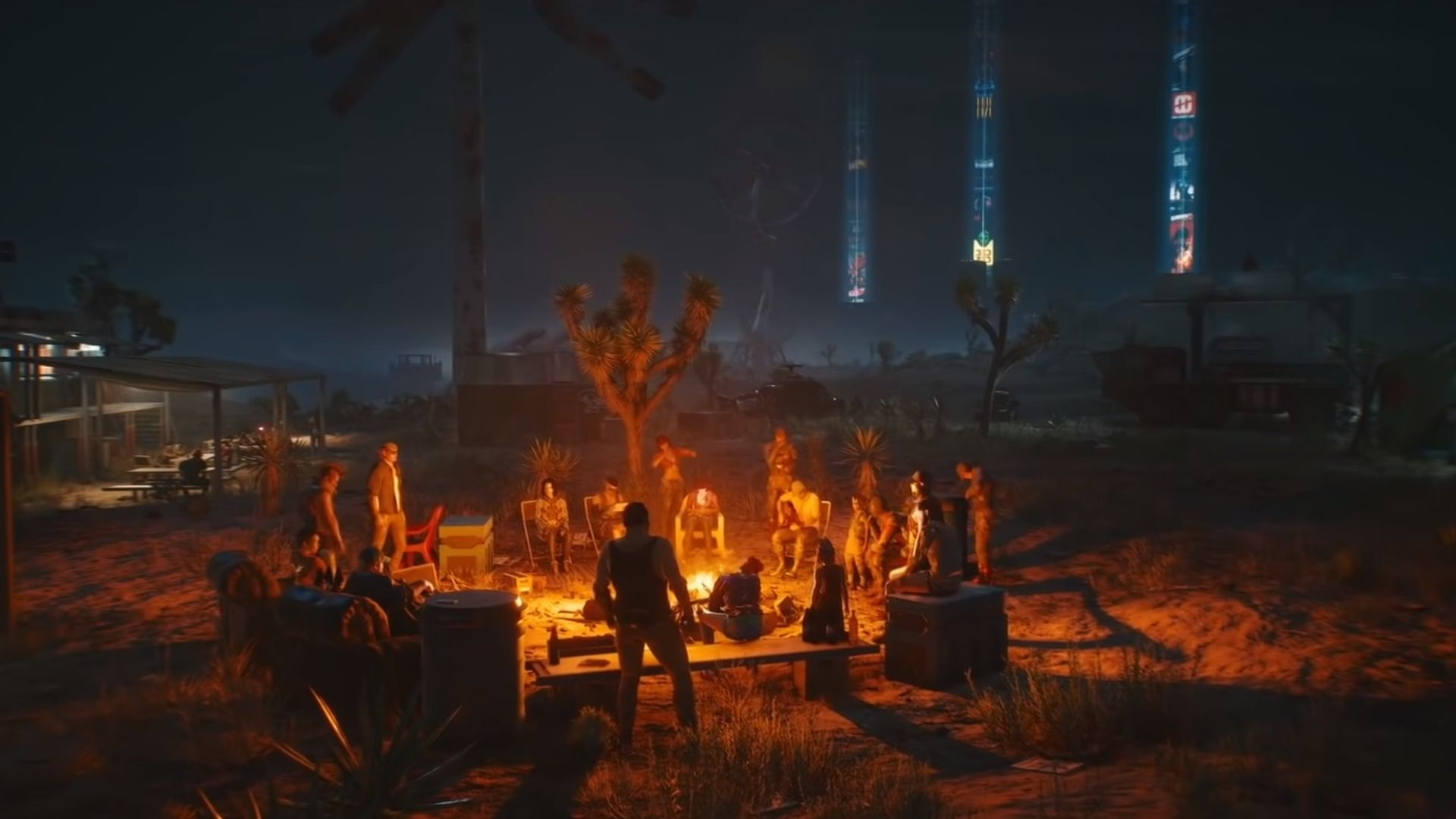 nomads in the badlands in cyberpunk 2077