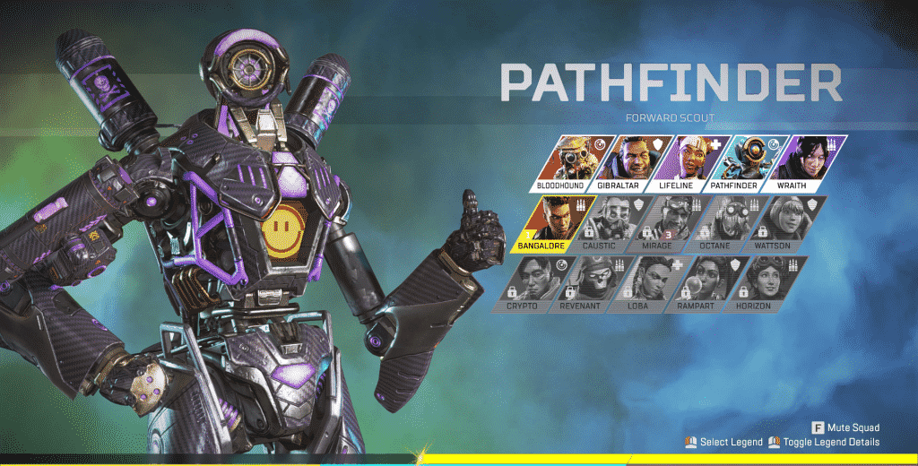 pathfinder in the Legend select screen