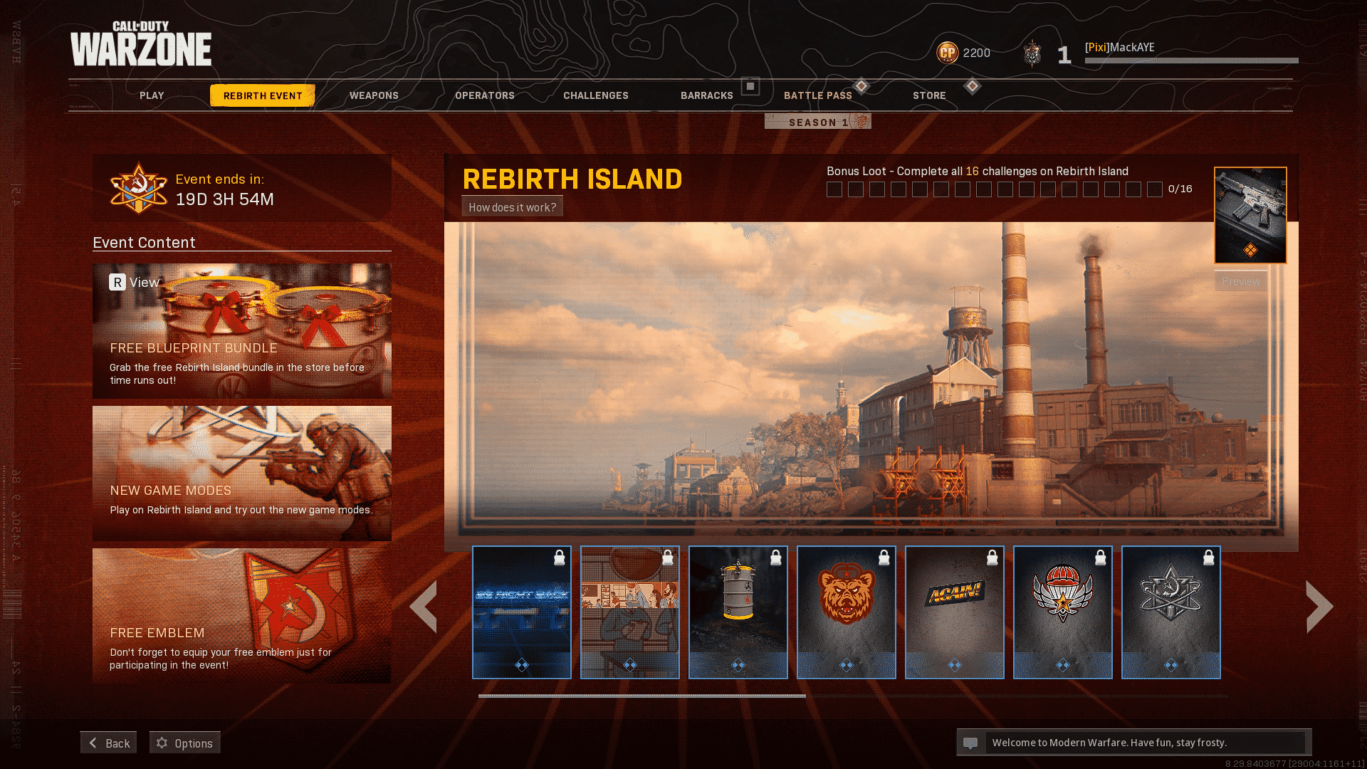 Rebirth Island Event in Call of Duty Warzone