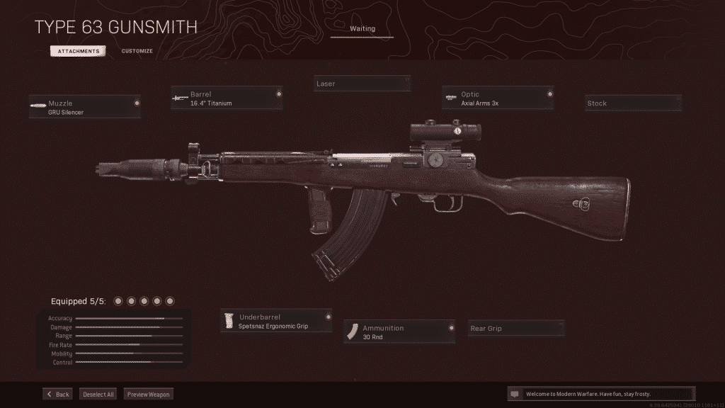 Cold War's Type 63 in the Warzone gunsmith