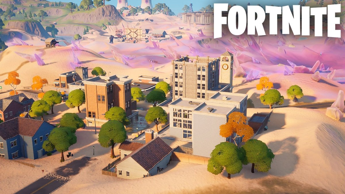 Fortnite's Salty Towers in Season 5.