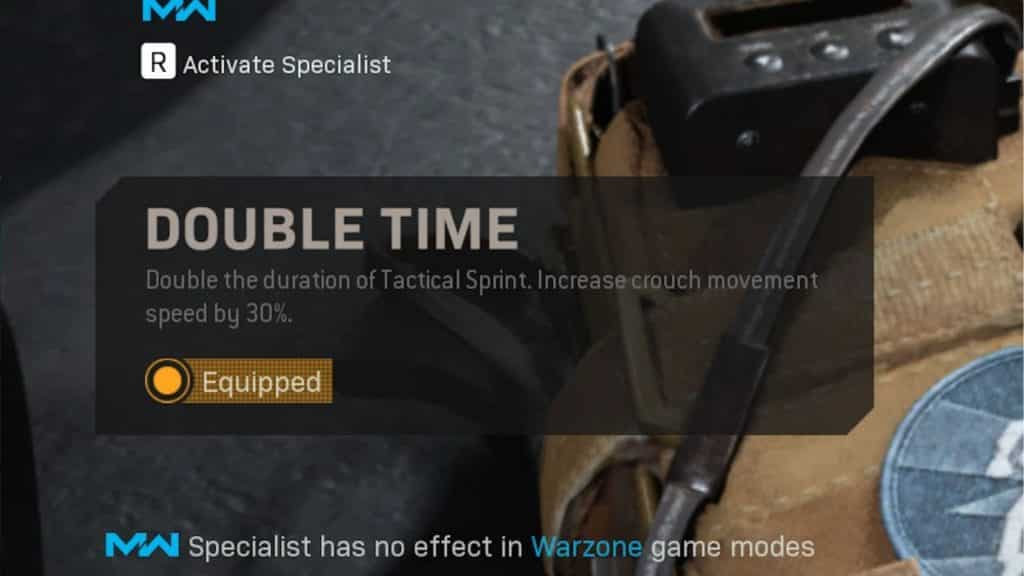 cod warzone double time perk 1