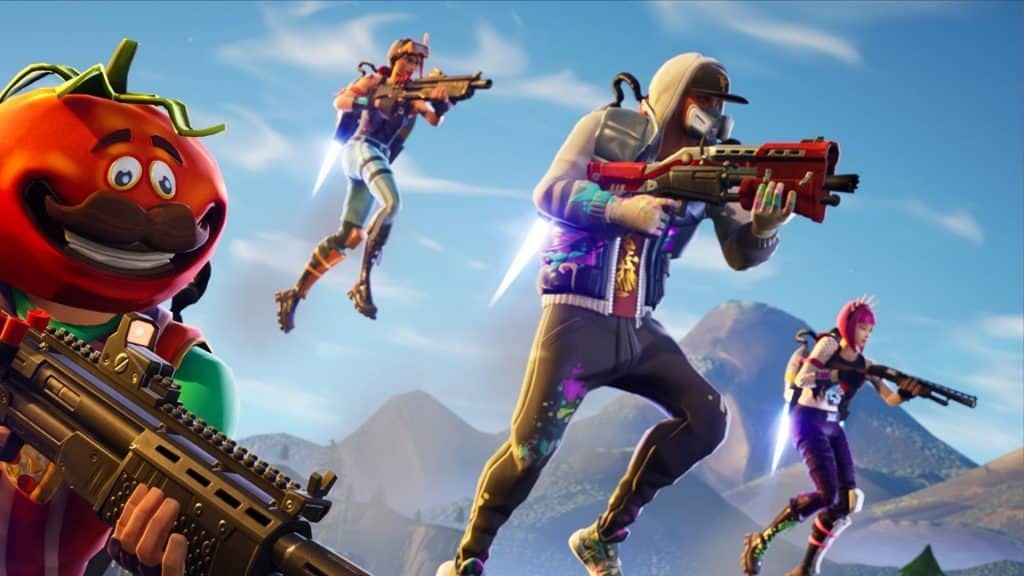 players using jetpacks in fortnite