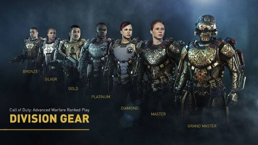 Call of Duty Advanced Warfare's Ranked Play Division gear