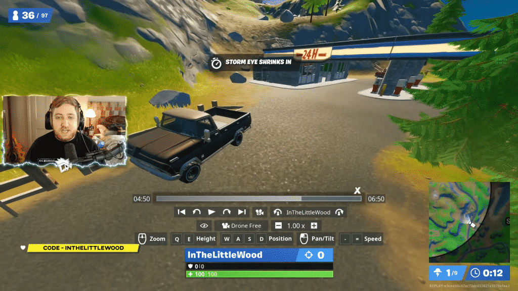 Fortnite truck locations from YouTuber inTheLittleWood