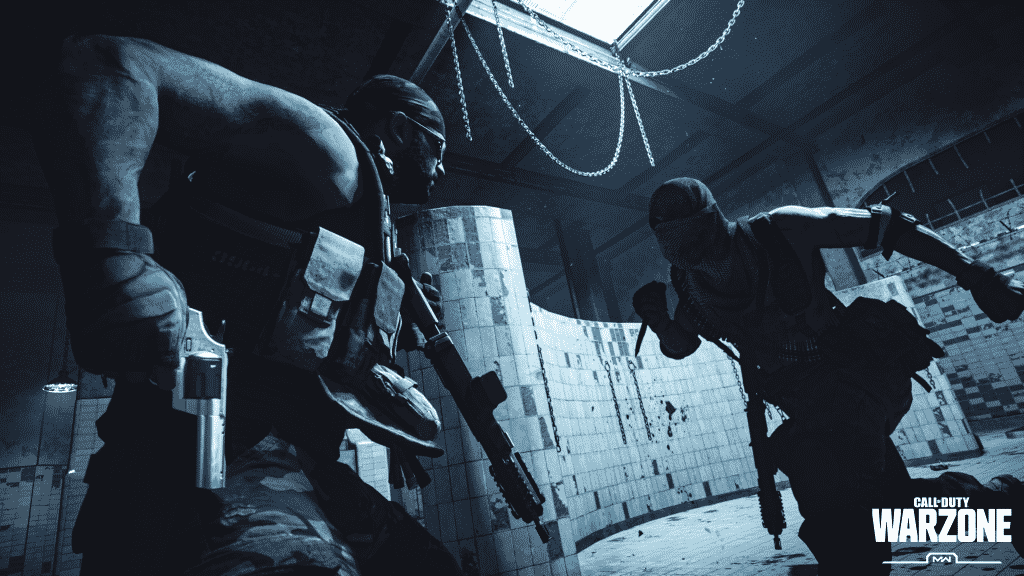 players fighting in Warzone's gulag