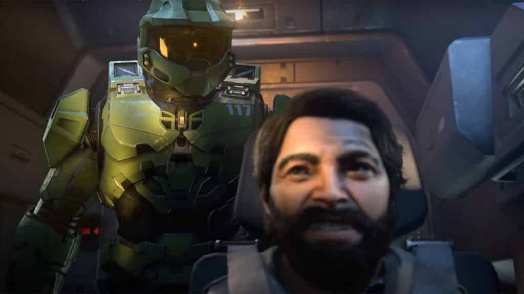 master chief and pilot in halo infinite