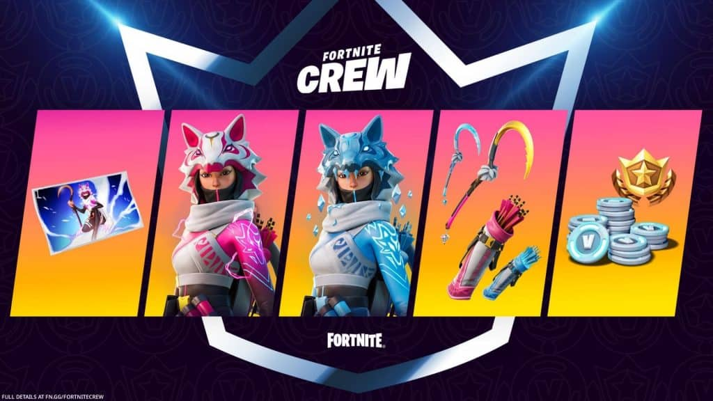 Vi Fortnite Crew cosmetics