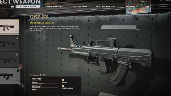 QBZ-93 in Black Ops Cold War