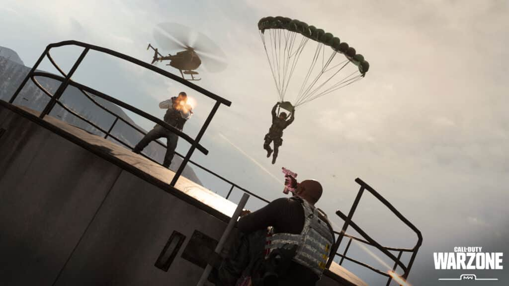 Parachutes in Warzone