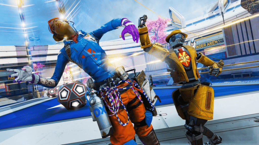 players boxing in Apex Legends Fight Night Ring
