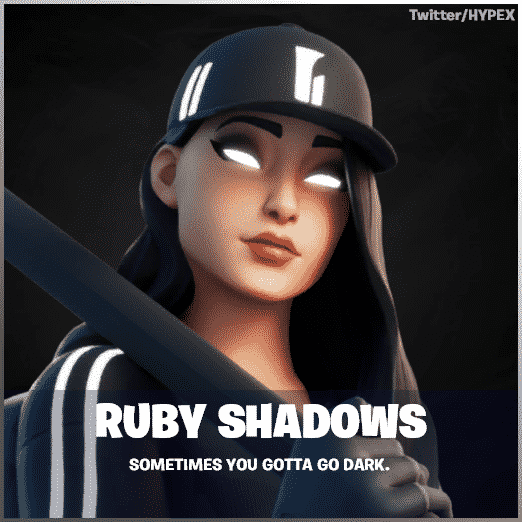 Ruby Shadows from Fortnite