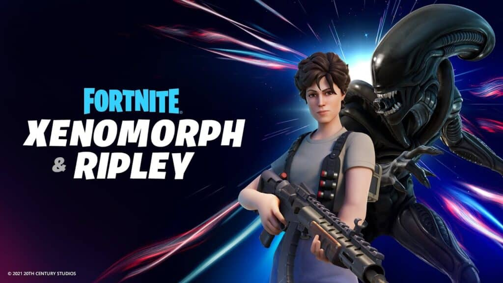 Ripley and the Xenomorph in Fortnite