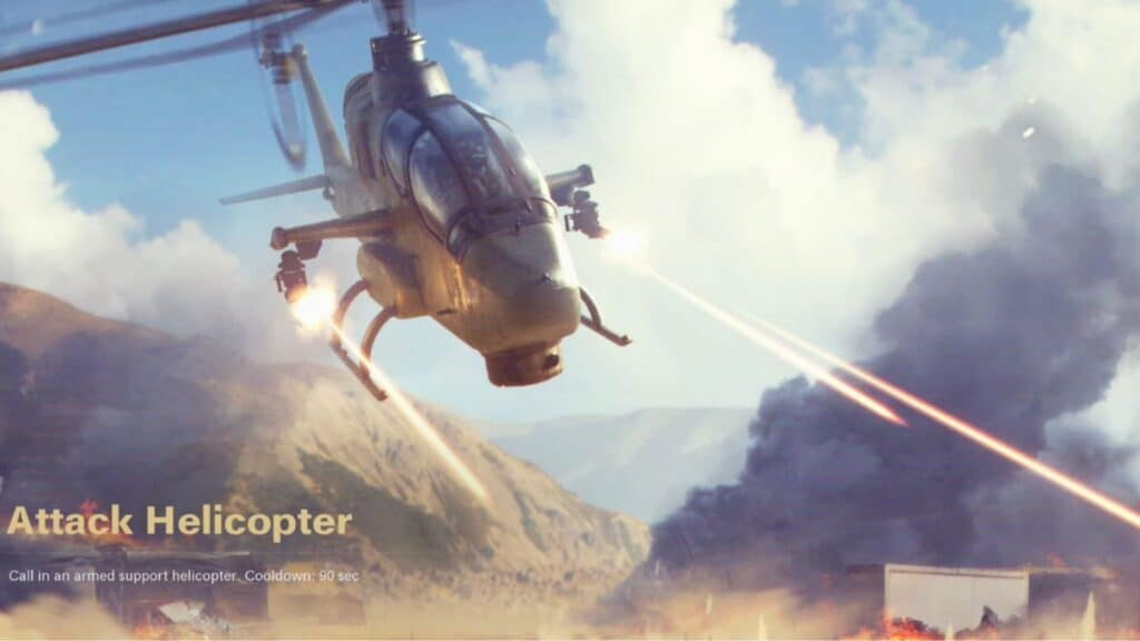 attack helicopter scorestreak cod bocw season 2