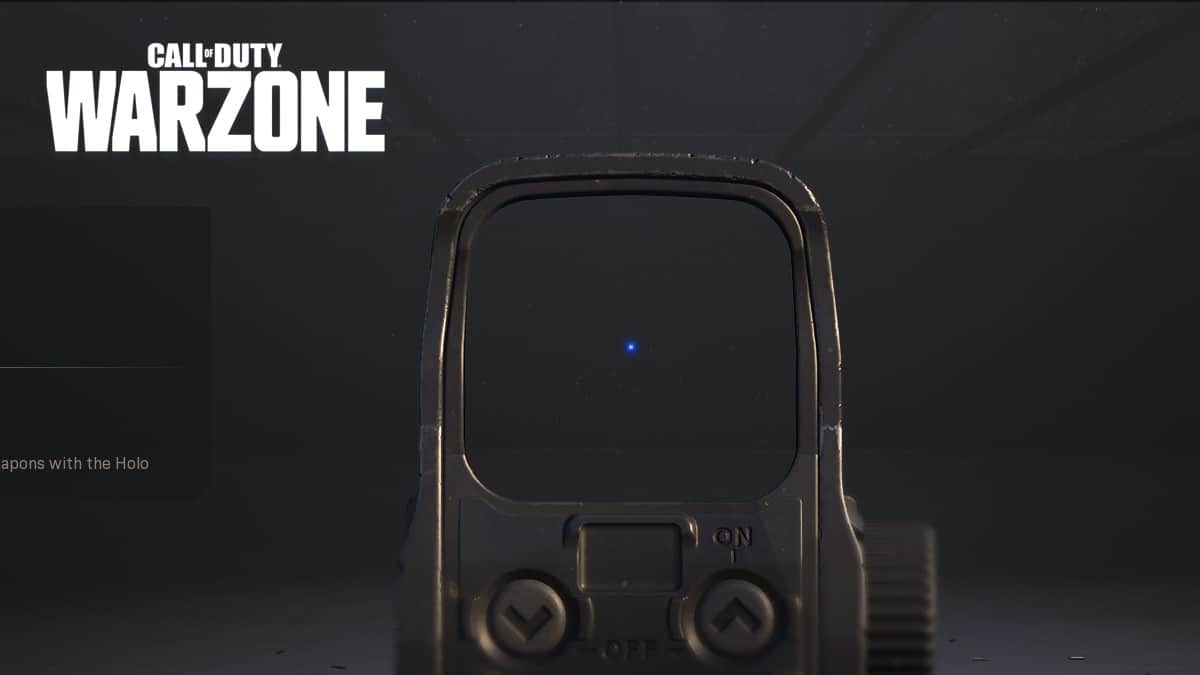 Warzone Blue Dot reticle