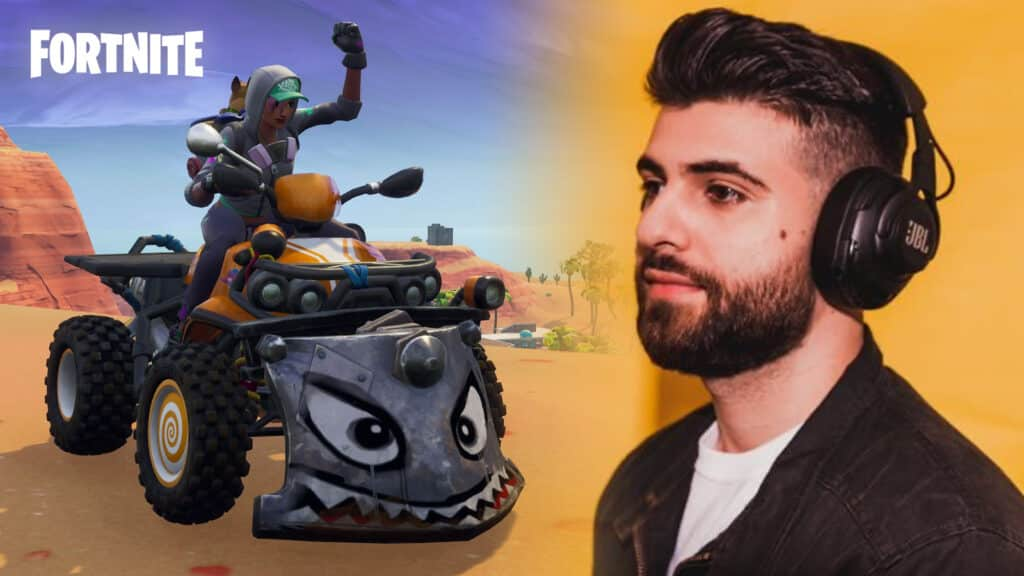 SypherPK is excited about Fortnite vehicle mods