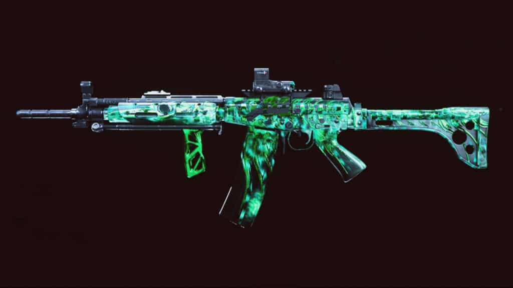 A weapon with reactive camo in Warzone